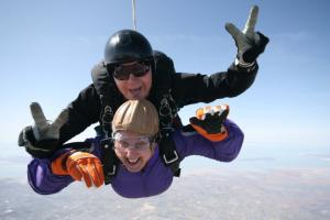 Hospice Patient Skydiving